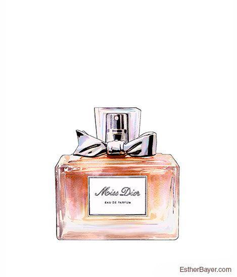 Miss Dior Eau de Parfum Bottle Colorful Fashion door EstherBayer
