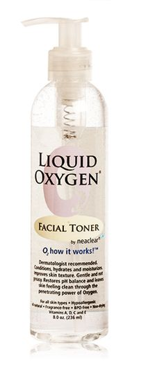 Liquid Oxygen by Neaclear - Liquid Oxygen Facial Toner 8oz. (90 Day Supply), $16.99 (http://www.neaclear.com/liquid-oxygen-facial-toner/)