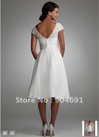 Short beach wedding dresses knee length shorts and beach for Knee length beach wedding dresses