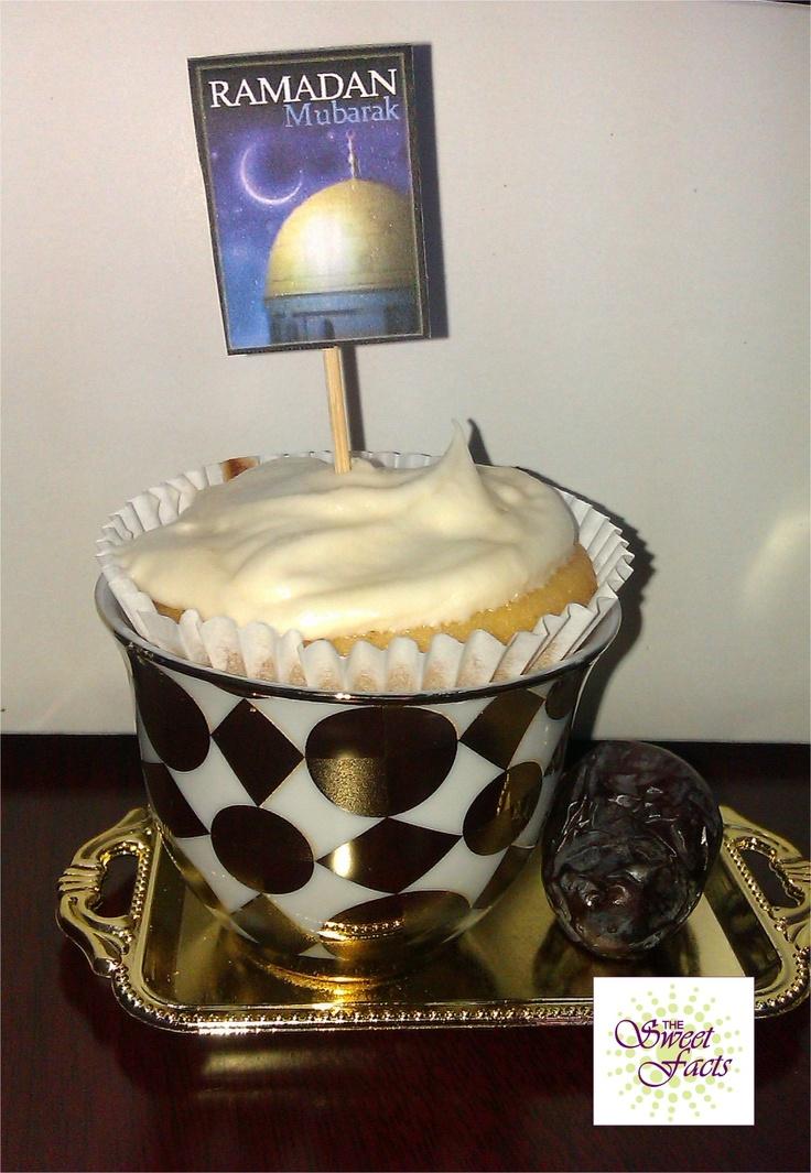 Ramadan cupcakes in Arabic coffee cup