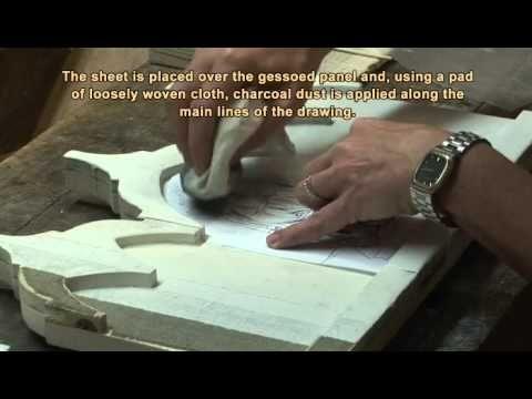 Dipingere l'icona di un Angelo: 7.4 - Mantello lapislazzuli lumeggiature - YouTube