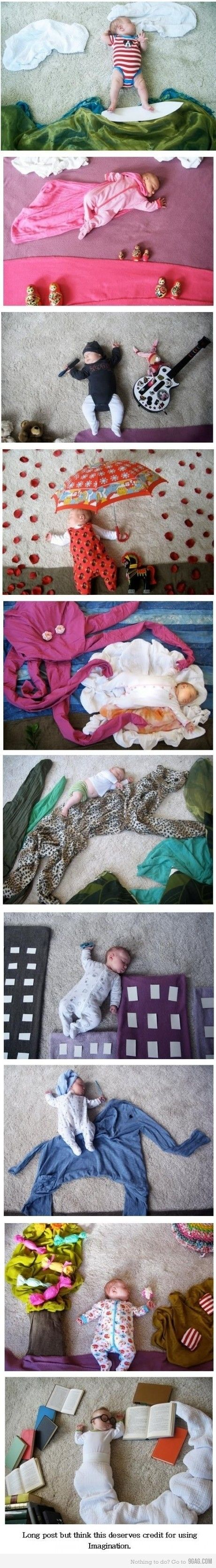Super cute idea! Staging Baby Pictures