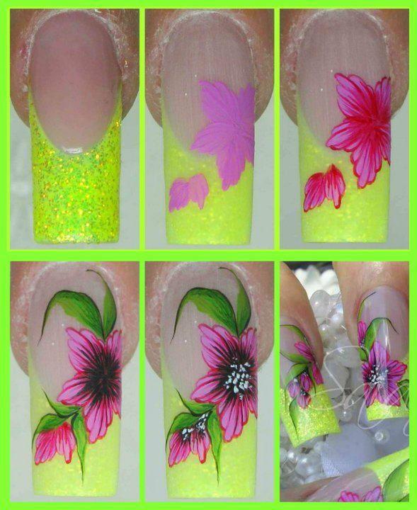Mejores 117 imágenes de Step by step nails en Pinterest | Paso a ...