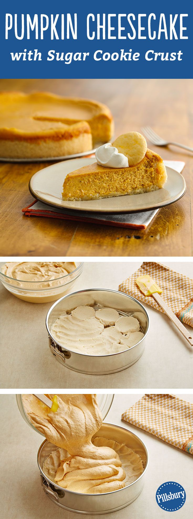 Check Out Pumpkin Cheesecake With Sugar Cookie Crust It 39 S