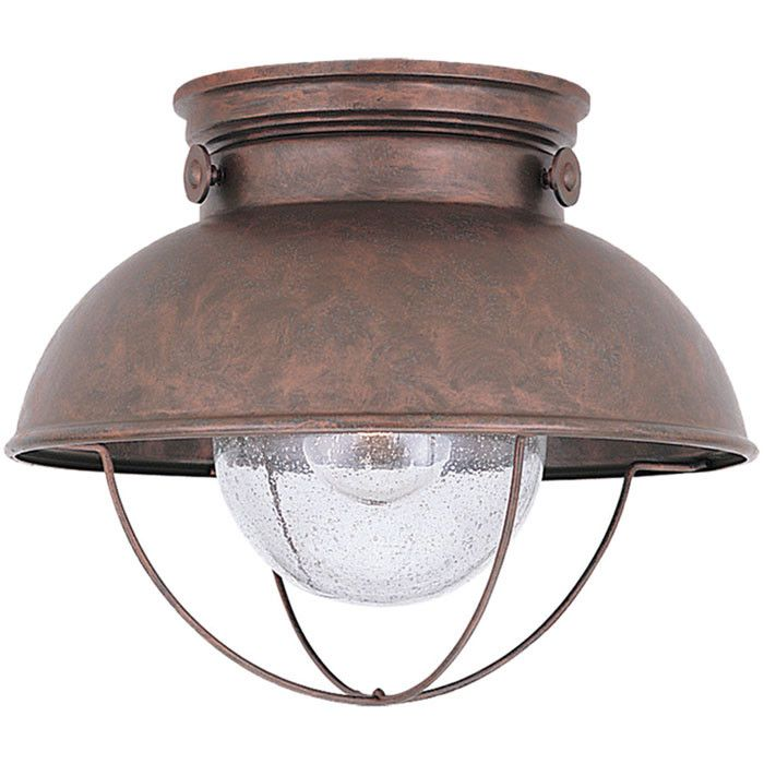 Best 25 industrial outdoor flush mounts ideas on pinterest shop sea gull lighting 8869 outdoor close to ceiling light at lowes canada find our selection of outdoor flush mount lighting at the lowest price aloadofball Gallery