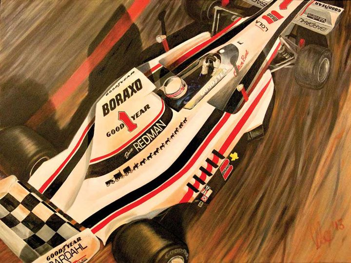 """Maiden Voyage"" - Brian Redman Innaugural Long Beach GP Winner 1975 www.motorart27.com #racingart #motorsportart #Formula1art #F1art #FormulaOneArt #oiloncanvas #Brian #Redman #LBGP #QueenMary #F5000 #1975 #artistcommunity #successartist #growyouraudience #artempire #racing #FormulaOne #Formula1 #racingart #CarsDesign #GillesVilleneuve #RacingPaintings #Posts #MotorsRacing #F1Artworks"
