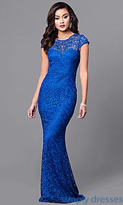 Shop long gold sequin-lace prom dresses at Simply Dresses. Long metallic formal dresses under $100 with v-necklines and cut-out back keyholes.