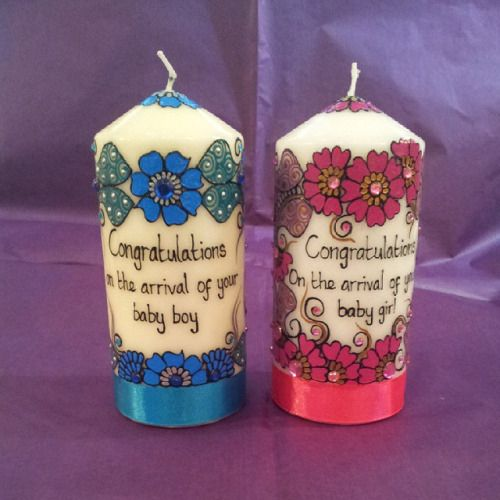 Also from Zara's Mehndi & Gifts these lovely new baby candles! #handmade #Huddersfield