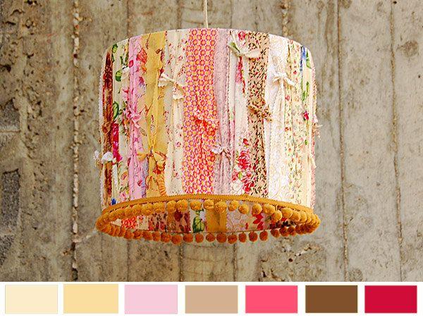 Crème brûlée - Designer Lamp Shade. Decorative Home Lighting. $80.00, via Etsy.