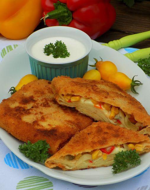 Domowa Cukierenka - Domowa Kuchnia: koperty naleśnikowe a'la pizza