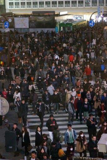 Shibuya intersection, just on a regular night