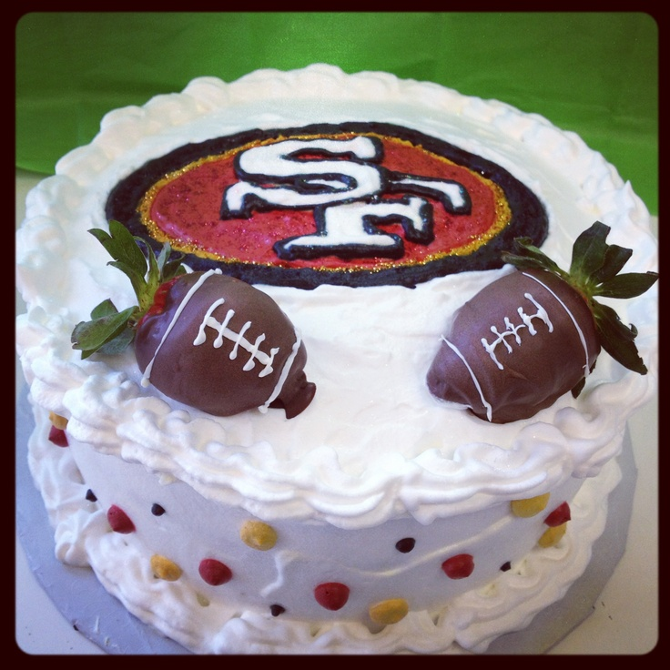 49ers cake im so making this for superbowl yeah I said it superbowl!! 2012