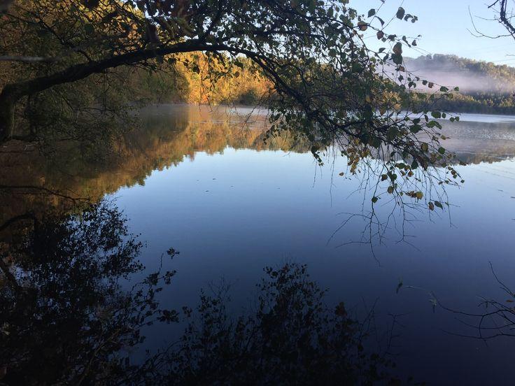 Fin morgen ved Bjørndalsvatnet i Bergen 🇳🇴