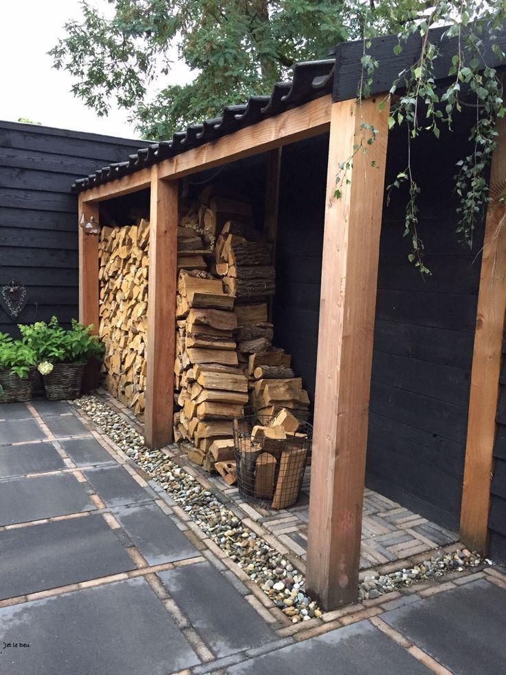 Holzlager Holzlager Sichtschutzholz In 2020 Outdoor Firewood Rack Diy Outdoor Backyard