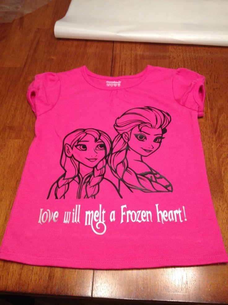 Heat Transfer Vinyl Disney Frozen Shirt Disney