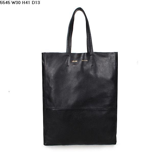 Celine Cabas Lambskin Leather Shopping Bag Black 5545          $179.00