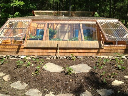 Walipini Greenhouse Plans | The outside of the greenhouse provides for a a lot of new growing ...
