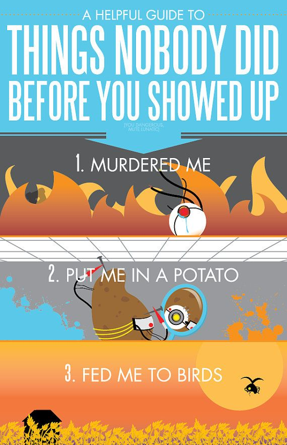 Because I'm A Potato  11x17 Poster Print by blimpcat on Etsy, $15.00
