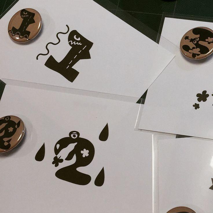 0 to 9 Post card & pin   https://instagram.com/tomokepi/