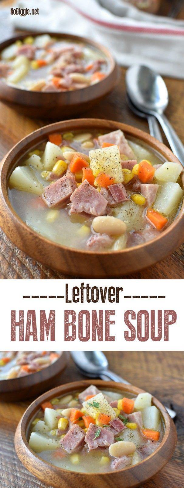 Leftover Ham Bone Soup | NoBiggie.net