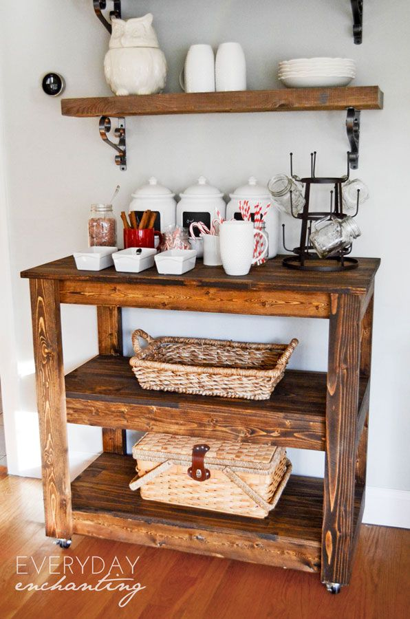 Learn How To Build An Easy DIY Entertaining Bar Cart From Everyday  Enchanting For Remodelaholic! Modify This For The Prep Cart For The Kitchen?