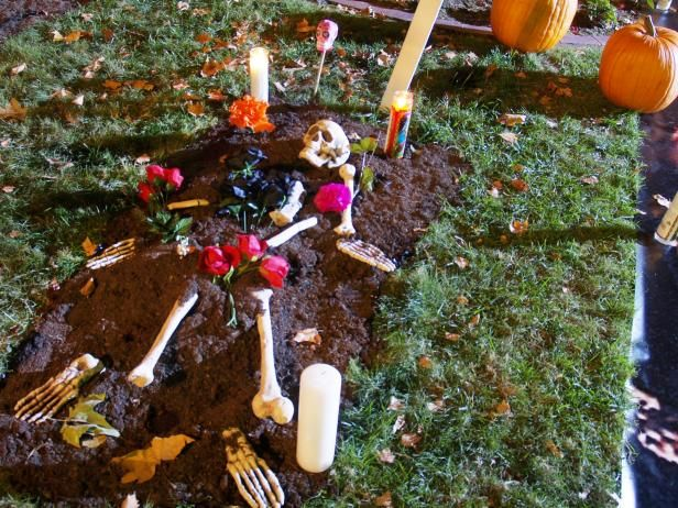 day of the dead skeleton graveyard outdoor halloween decorationshalloween