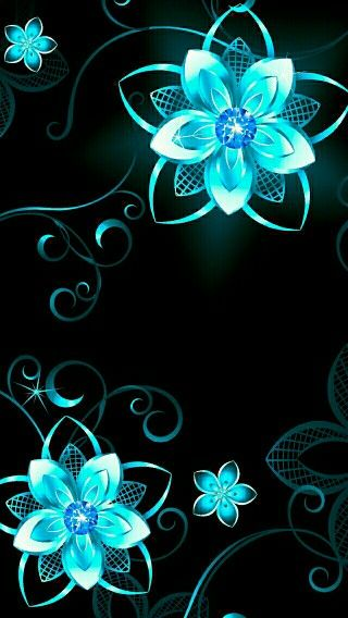 aqua flower dreamer wallpapercyan-#4