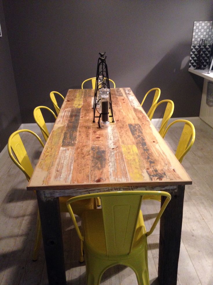 Recycled timber table