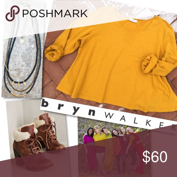 Selling this BRYN WALKER MUSTARD YELLOW LONG SLEEVE SLOUCHY TOP on Poshmark! My username is: catwalkrags. #shopmycloset #poshmark #fashion #shopping #style #forsale #Bryn Walker #Tops