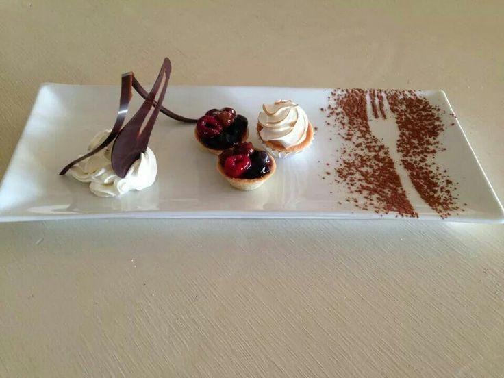 Linda decoracion plato postre postres platos decorados - Decoracion de platos ...