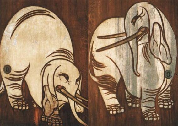 養源院・白象図杉戸絵