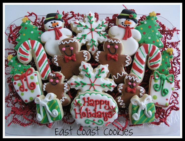 Christmas Cookie Platter   by Coastal Cookie Shoppe (was east coast cookies)