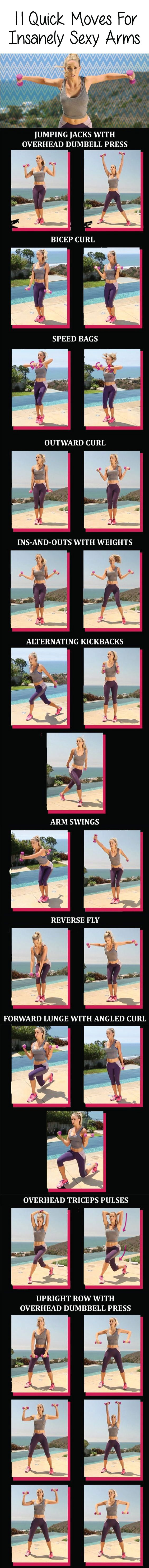 Want to sculpt your arms and shoulders into seriously sexy shape? These exercises were designed by a certified trainer Astrid McGuire to do just that.