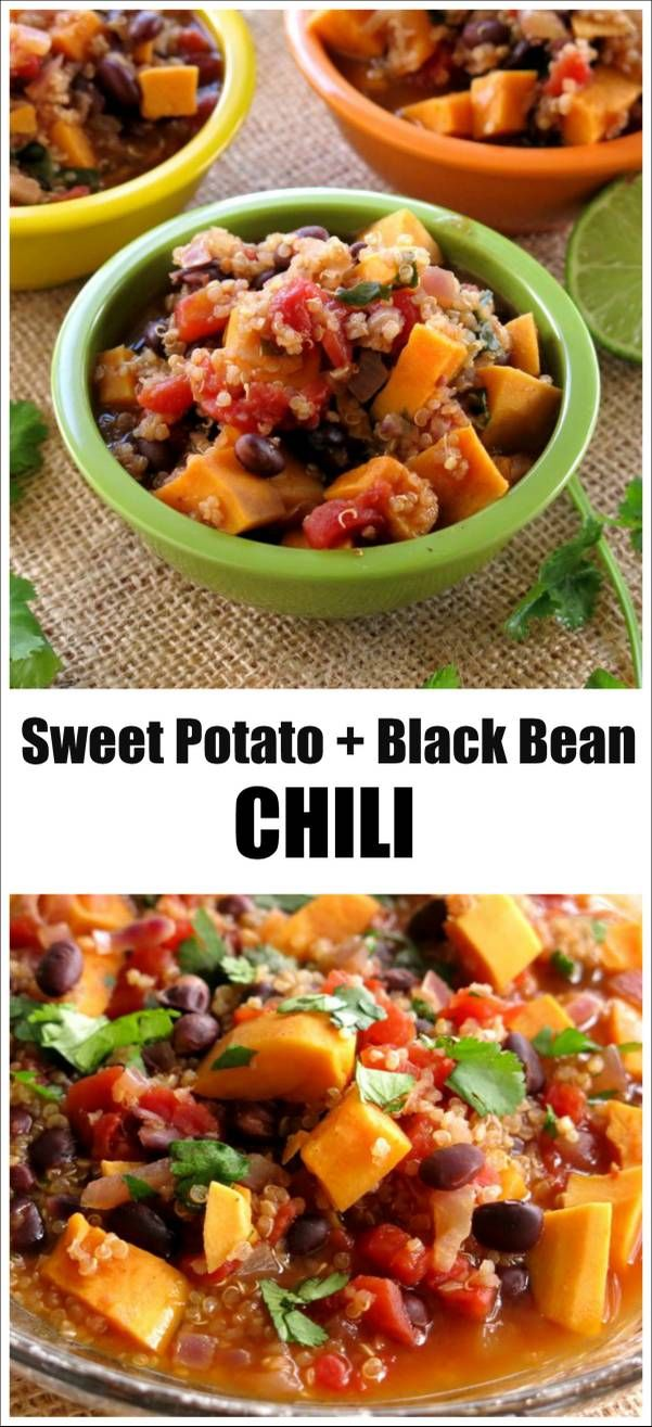 Sweet Potato, Black Bean and Quinoa Chili | Recipe | Chili ...