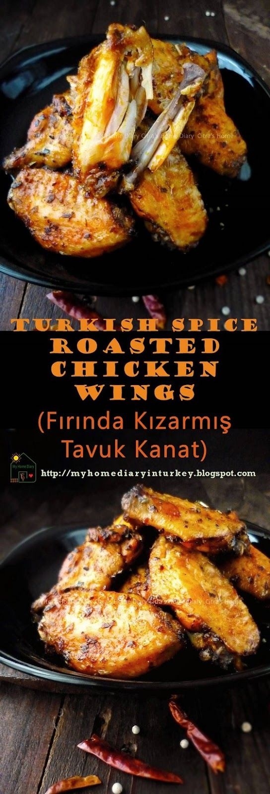 Turkish Spice Roasted Chicken Wings/ Fırında Kızarmış Tavuk Kanat.  copycat taste from rotisserie chicken wing seller here in city where İ live (or maybe other cities in Turkey). #rotisseriechicken #chickenrecipe #turkishfoodrecipe #resepayam #ayampanggangoven #chickenwings