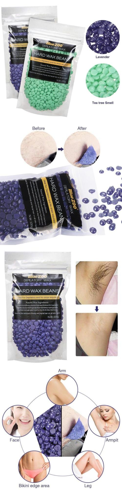 Waxing Supplies: Hair Removal Hard Wax Bean, Luckyfine Depilatory Lavender Tea Tree Full Body... -> BUY IT NOW ONLY: $37.44 on eBay!