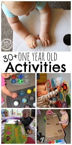 30  {Busy} 1 Year Old Activities ***note from tori*** These activities are so cute and entertaining  (hopefully) for a one year old and for once everything on the list is stuff I actually really have laying around the house. Entertained baby + saving $$ =WIN