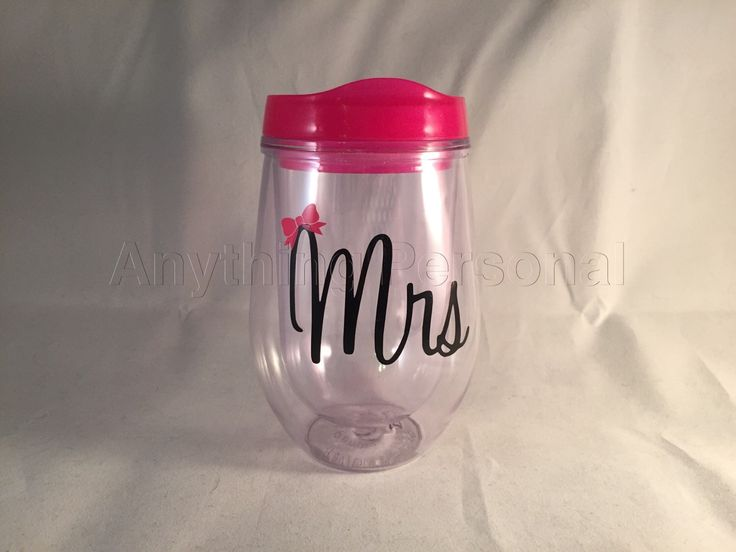 Mrs. Cup, Wine Tumbler, Personalized Cup, Bridal Cup, Bride Gift, Monogram Gift, Bev2Go, Beach Cup, Bachelorette Cup, Honeymoon Cup by AnythingPersonal on Etsy https://www.etsy.com/listing/240188576/mrs-cup-wine-tumbler-personalized-cup