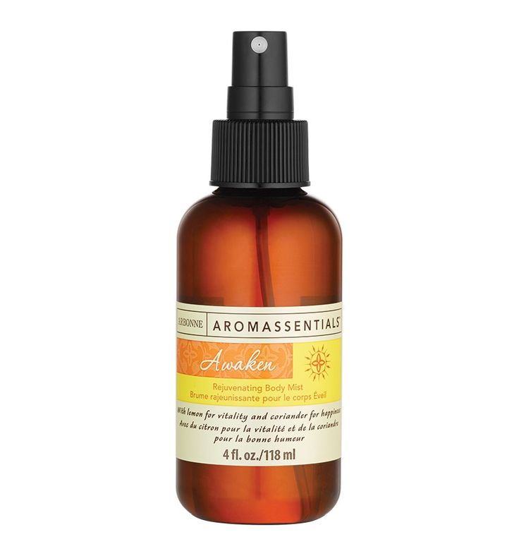 Awaken Rejuvenating Body Mist UK #7085 - Arbonne A heightened sense of purpose, energy and vitality. Let the stirring scent of the Awaken Essential Oil Blend rejuvenate your body and soul as you replenish skin's moisture.