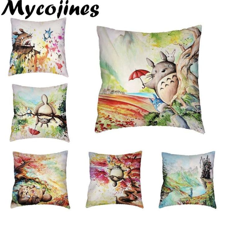 Famous japan cartoon cushion cover abstract totoro pillow