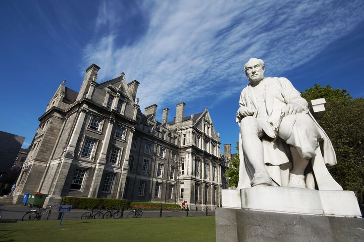Dublin attractions, Ireland, George Salmon statue at Trinity College