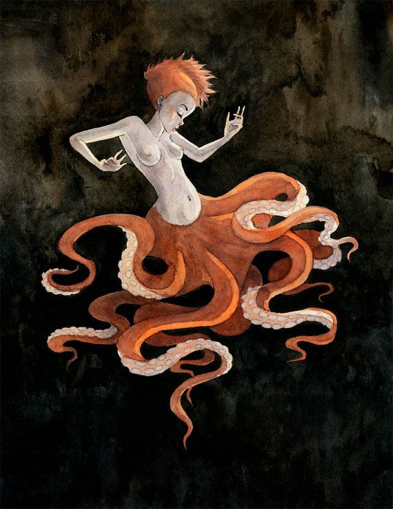 Hey, I found this really awesome Etsy listing at https://www.etsy.com/listing/168479639/octopus-mermaid-8x10-print