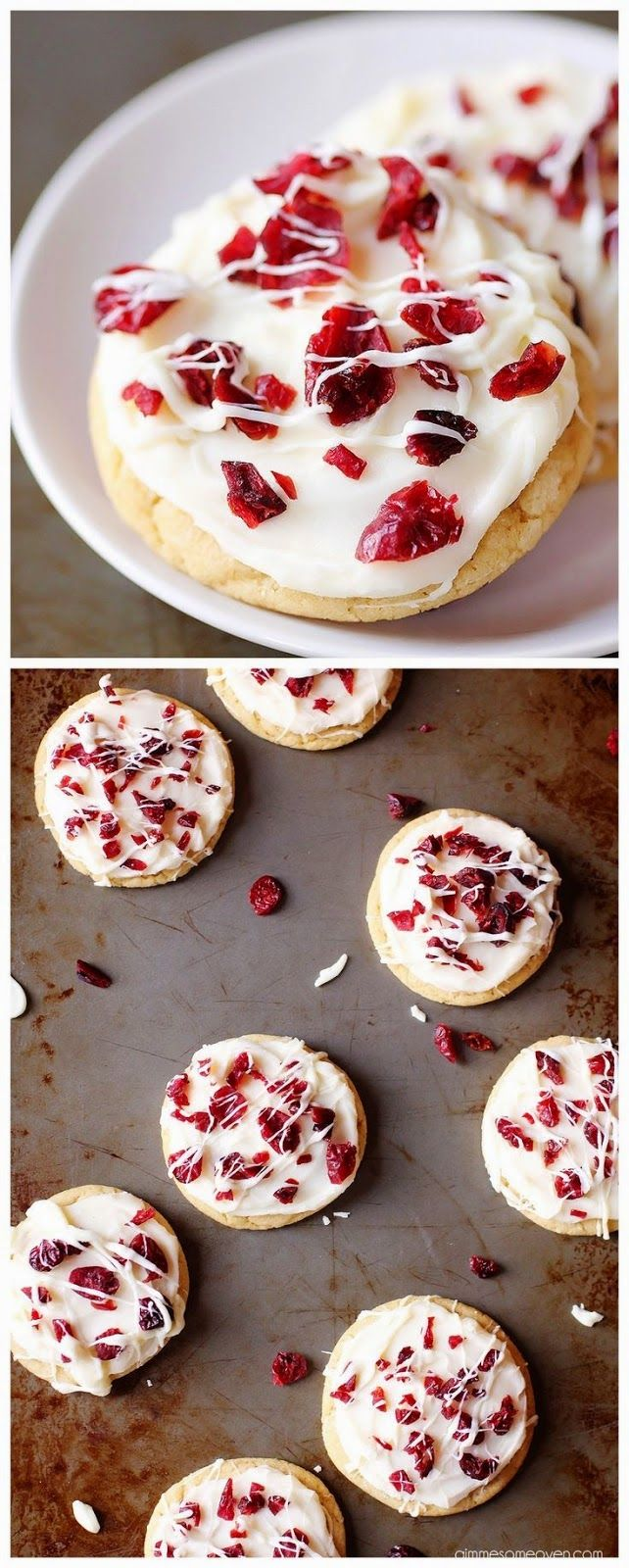 Cranberry Bliss Cookies... these would be cute in the shapes of little christmas trees. :)