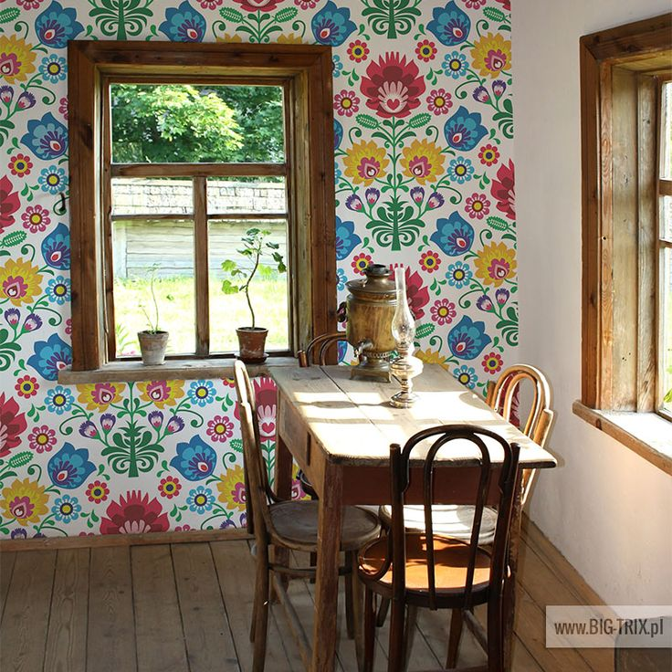 ETNO: Polish pattern wallpaper by Big-trix.pl | #wallpaper #polish #etno #folk #pattern