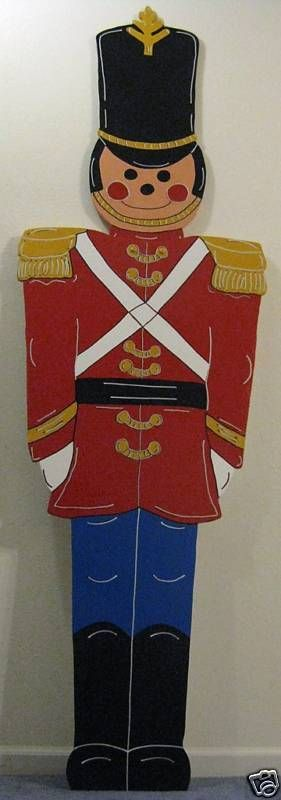 Giant Toy Soldier Christmas Lawn Yard Art Decoration    eBay