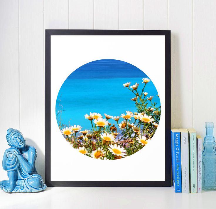 #TurquoiseArt #WallArt, #greekart #aegean #blue #CoastalDecor, #ClearWaters, #FlowersPhotography  #TropicalArt #TurquoiseWaters, #WaterPhotography #Sea #CirclePrint, #Relax #WallArt, #Printable, #Zen, #Relaxing #Gifts JuliaApostolovaArt #Print,#Turquoise, #Modern #Etsy #homedecor #coastaldecor #interior #officedecor #interiordesign #minimalart #modernart