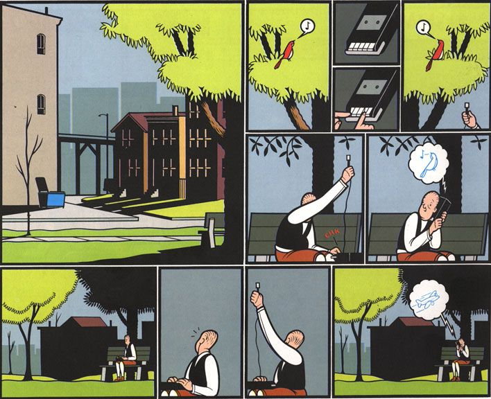 """CHRIS WARE """"Jimmy Corrigan: The Smartest Kid On Earth"""" (inner page)"""