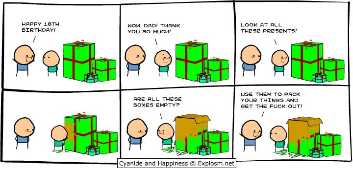 Cyanide and Happiness, a daily webcomic