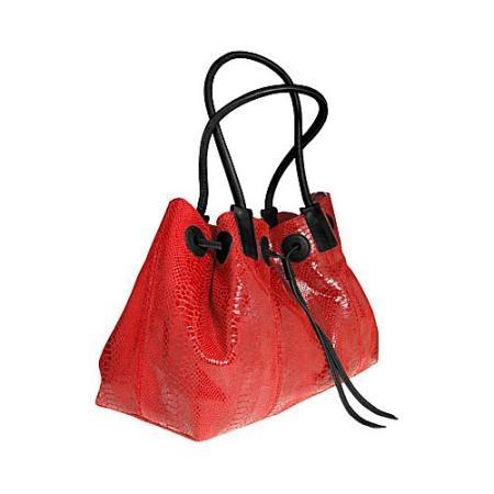 Alla Leather Art Empire Shoulder Bag Large - Red