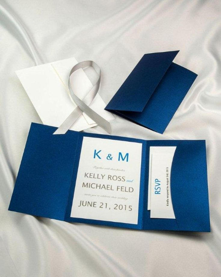 fast shipping wedding invitations%0A        ea  print yourself u   d        for    printing template including rsvp  Royal Blue